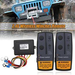 $enCountryForm.capitalKeyWord NZ - 2.4g 12v Digital Wireless Winches Remote Control Recovery Kit For Jeep Suv Truck Car J190523