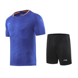 8d5da12672390 T-shirt da Badminton Li Ning + Pantaloncini da tennis da uomo e da donna  T-shirt sportive Asciugatura rapida da tennis