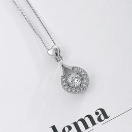 Best Wedding Pendant Australia - Gorgeous Exquisite Shiny Love Diamonds Represent Pure Love Copper Pendant Necklace Wedding Party Graduation Jewelry Best Gift
