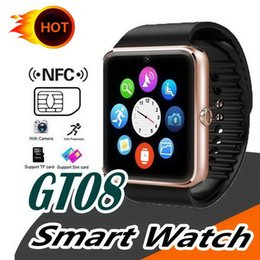 price smart watch NZ - Factory price GT08 Bluetooth Smart Watch support SIM Card Health Watchs for Android Samsung iphone Smartphones Sports Smartwatch