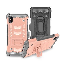 $enCountryForm.capitalKeyWord Australia - Aicoo Holster Bossy Combo Case With Belt Clip Shockproof Armor Cover For iPhone XS Max XR XS X Samsung S10 Plus S10e Note 9 LG Stylo4 OPP