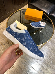 New exclusive denim men fashion casual shoes trend sports shoes top quality luxury designer shoes light luxury casual style on Sale
