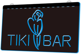 Chinese  LS1146-b-Tiki-Bar-Parrot-OPEN-Display-NEW-Neon-Light-Sign.jpg Decor Free Shipping Dropshipping Wholesale 8 colors to choose manufacturers