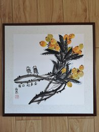 $enCountryForm.capitalKeyWord NZ - Handpainted Chinese ink painting--Loquat and birds-love each other till old