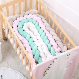 Red white sofa cushions online shopping - 2 M Nordic Long Knotted Braid Pillow Cotton Knots Cushion Decorative Sofa Pillow Baby Bumper Crib Bed Protector Kids Room Decor