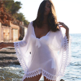 $enCountryForm.capitalKeyWord Australia - Womens Beach Wear Lace Bikini Short Cover Up White Hollow Out Crochet Swim Suit Hot Sexy Swimwear Beach Dress