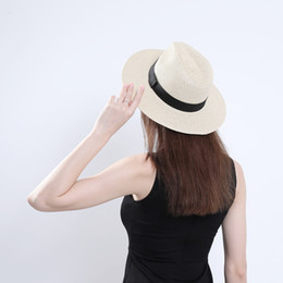 $enCountryForm.capitalKeyWord Australia - Summer Men Women Jazz Sun Straw Hats Flat Brim Panama Style Fedora Hat Cowboy Beach Sunhat Carnival Performance Hat
