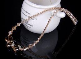 $enCountryForm.capitalKeyWord Australia - Pure Crystal Necklace Austrian Crystal Necklace Female 925 Sterling Silver Accessories