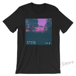 $enCountryForm.capitalKeyWord Australia - TIME TRAVELER 2061 Aesthetic Tee WoMen Men T-shirt purple vaporwave vhs retro clothes sunset background tshirt aesthetic