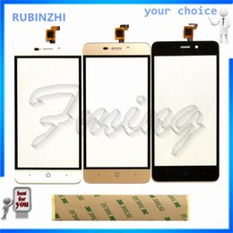 zte blade NZ - RUBINZHI Phone Touch Screen Digitizer For ZTE Blade A452 X3 D2 Front Glass Touch Panel Sensor Lens Replacement Parts with Tape
