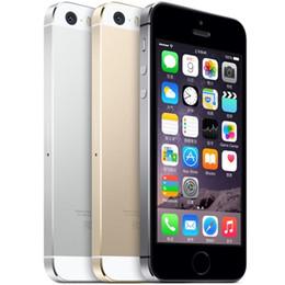 Iphone Refurbished 16gb Australia - Refurbished Apple iphone 5S Original Unlock IOS Quad Core 16GB 32GB Cell phone with touch ID 8.0MP RAM 1GB
