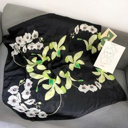 $enCountryForm.capitalKeyWord Australia - 2019 New Silk Scarf Women Wild Flower Printing Foulard Female Fashion Shawls&Wraps Beach Towel Soft Long Scarves Kerchief 180*90cm