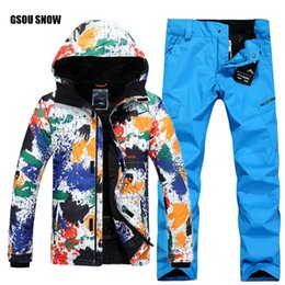 $enCountryForm.capitalKeyWord Australia - GSOU SNOW Brand Ski Suit Men Ski Jacket Pants Winter Mountain Skiing Suit Waterproof Snowboard Sets Male Free Shipping