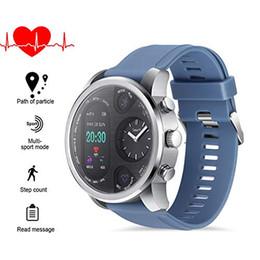 $enCountryForm.capitalKeyWord Australia - IP68 waterproof smart watch android Fitness Tracker watch smart bracelet Heart Rate Monitor Dual time Zone Black sport watch free shipping