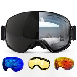 9e3b0aa788e Ski Goggles Photochromic Clear Skiing Glasses Airsoft Uv Protection  Snowboard For All Weather Men Women Big Spherical Mask Sci