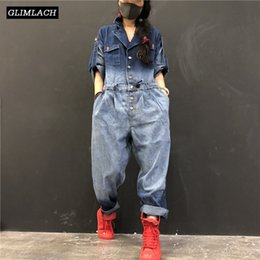 $enCountryForm.capitalKeyWord Australia - 2019 New Denim Jumpsuits Women Loose Hip Hop One Piece Jeans Jumpsuits Ladies Vintage Wide Leg Denim Overalls Streetwear Clothes