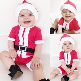 warm bodysuit NZ - 2Pcs Christmas Winter Warm Infant Toddler Baby Boy Girl Long Sleeve Bodysuit Jumpsuit+ Hat Xmas Outfits Set Clothes 2019