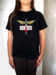Kids modelling short clothes online shopping - bon jovi t shirt model BLACK toddler kid clothing shirt for children BON JOVI Cool Casual pride t shirt