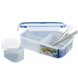 Bento chopsticks online shopping - Portable Microwave Lunch Box Picnic Bento Food Containers with Spoon Chopsticks Eco Friendly Food Container Lunch box KKA6412