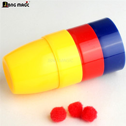 cups balls magic Canada - Three holes 6*5cm Magic props Three cups of the ball Three cups of The toy factory JBNG MAGIC