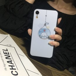 Bulb Case Australia - Cartoon mobile phone case for iphone x 6s 7 8 XR 7plus 8plus Colored relief Bulb fish Mobile phone protective case