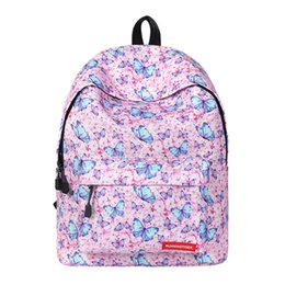 Chinese  Women's laptop backpack Women Butterfly Prints Fahion small cute backpack school College bags for teenage girls Travel back pack manufacturers