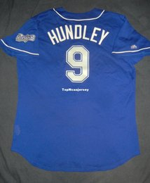 ec570953f Cheap Retro Top ISSUED Majestic 80 TODD HUNDLEY  9 LOS Blue BP Jersey 48 Mens  Stitched Baseball jerseys