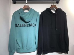 Wholesale hand pullovers resale online - B Men s and women s autumn winter family all cotton real hoodies with high quality woolen loops