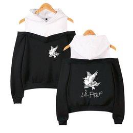 $enCountryForm.capitalKeyWord UK - XS-2XL A Rapper Hoodie LIL Peep and Bird Picture Printed Long Sleeve Inside Fleece Casual Pullover Hoodies Out Shoulder Sweatshirt Jacket