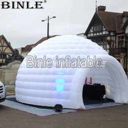 $enCountryForm.capitalKeyWord Australia - Popular White Disco LED Lighting inflatable igloo tent inflatable dome tent for sale