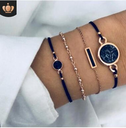 $enCountryForm.capitalKeyWord Australia - Love letter tassels bangle sets world map tophus star moon set with diamond pine hands braided rope bracelets 483