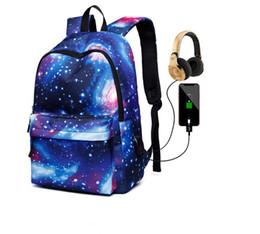 $enCountryForm.capitalKeyWord UK - Hot sale!New designs for backpacks for boys and girls Star USB charging bag school bag Travel bag Free shipping