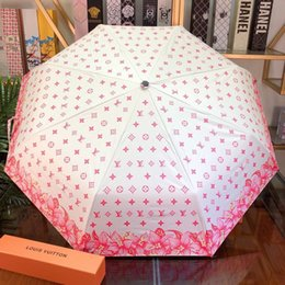 $enCountryForm.capitalKeyWord NZ - INS Style Umbrella with Print Logo Brand Windproof Folding Umbrella Fashion UV Protection Umbrella for Outdoor