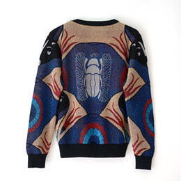 wholesale beatles shirts Australia - 2019 New Women Sweater Autumn Winter Star Golden Beatles Jacquard Abstract Design Long Sleeve Knitted Shirt Tops