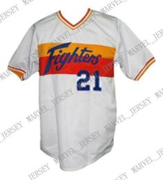 Wholesale nippon online – design Cheap Custom Yukihiro Nishizaki Nippon Ham Fighters Baseball Jersey White Stitched Any player jersey college baseball jersey XS XL