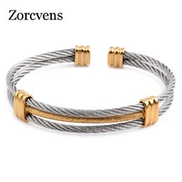 $enCountryForm.capitalKeyWord Australia - ZORCVENS new arrival spring wire line colorful titanium steel bracelet stretch Stainless steel Cable Bangles for women