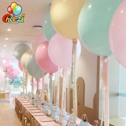 24 inch balloons online shopping - 24 inch Latex balloon Macaron Color Baby Shower Girl boy Birthday Party Decoration balloons Wedding Party Supplies Ballon SH190913