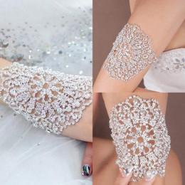 Chain Hairs NZ - Fashion Bridal Bracelets Wedding Hair Accessories Crystal Hand Chain Bangles Silver Hair Accessories Arm Chains gift Free Shipping