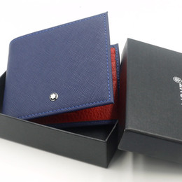 Vente en gros Marque allemande hommes luxueux en cuir véritable MB portefeuille couleur double pince à billets couture, bouton de manchette homme accessoires de luxe boutons de manchette