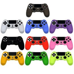 RubbeR contRolleR coveRs online shopping - newest Colorful Camo Soft Silicone Gel Rubber Case Skin Grip Cover FOR PS4 Wireless Controller Soft Silicone