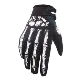 $enCountryForm.capitalKeyWord UK - One Pair 3D Print Cycling Gloves Bike Bicycle Sports Full Finger Hiking Mesh Winter Skull Skeleton Goth Racing Cycling Gloves