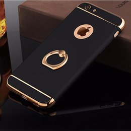 Protection Cases For Iphone 5s Australia - Amazing Luxury 3D Aluminum Ring Stand Holder Cases For iPhone 7 6 6S Plus Removable 360 Full Protection Phone Cover for iPhone 5 S 5S SE