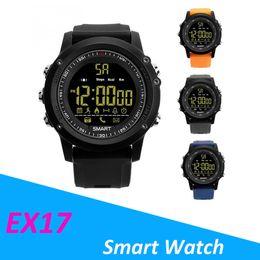 Portuguese Bracelets Australia - For apple iphone Bluetooth Smart watch EX17 Long standby time Smartwatch Bracelet IP67 Waterproof Swim Fitness Tracker Sport Watch Android