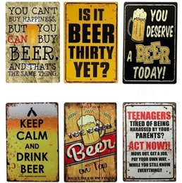 vintage coffee tin signs NZ - Tin Signs Collection Vintage Wall Art Retro TIN SIGN Old Wall Metal Painting ART Bar Pub Coffee Restaurant Home Decoration