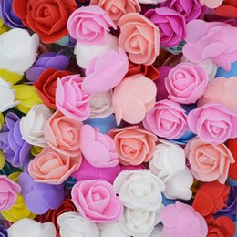 $enCountryForm.capitalKeyWord NZ - 3.5cm Mini Pe Foam Rose Flower Head Artificial Flowers Home Diy Headdress Wreath Supplies Wedding Party Decoration C19041701