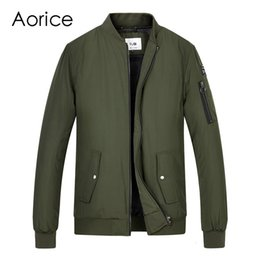 $enCountryForm.capitalKeyWord Australia - Aorice Men spring winter baseball uniform coat flying jacket women&men boys' Pilot suit army green black cloth QY905 T190907