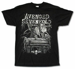 Wholesale bat tee for sale – custom Avenged Sevenfold Alchemist Black T Shirt New Official A7X Merch Death Bat New T Shirts Unisex Funny Tops Tee
