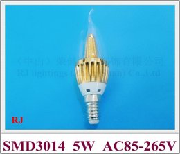 $enCountryForm.capitalKeyWord Canada - LED candle bulb lamp crystal light Tapered tower style 360 emission angle E14 5W SMD3014 36led 400lm AC85-265V CE ROHS