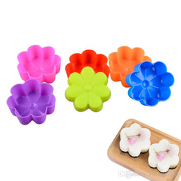 $enCountryForm.capitalKeyWord Australia - Wholesale small flower Silicone Mold Cupcake Soap Silicone Cake Mold Muffin Baking Nonstick and Heat Resistant Reusable Silicone Cake Molds