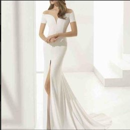Organza Mermaid Wedding Dress Feathers Australia - Aric The collector's edition is unique and customized 2019 High-end customization handmadeV-Neck Mermaid Wedding Dress in Silk Crepe